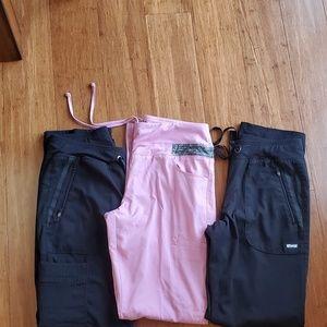 Lot  OF 3 Grey's Anatomy Impact Scrub pants size S